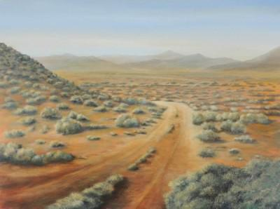 "Tertius van Huyssteen & Llise Dodd Art Gallery Llise's pic. Acrylic, 1200 x 900mm ""Almost there"""
