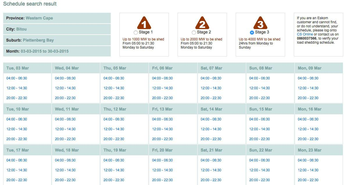 Loadshedding Cape Town: Plettenberg Bay Load-Shedding Schedule In 3 Easy Steps