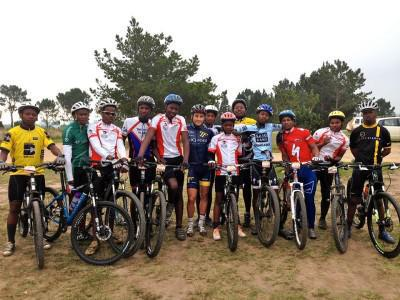 Keen riders of the Kwano Cycling Academy