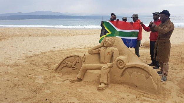 Madiba Sculpture Plett