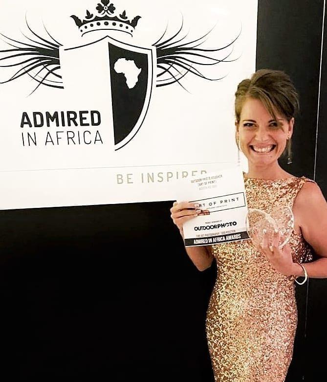 Christy Strever Admire in Africa award winner