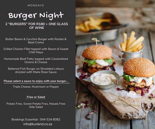 Kurland Monday Burger Night