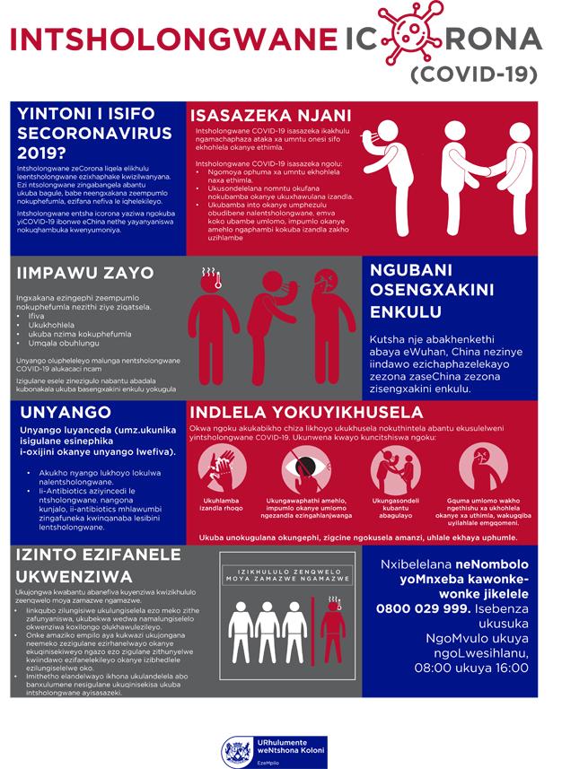 Coronavirus information Xhosa