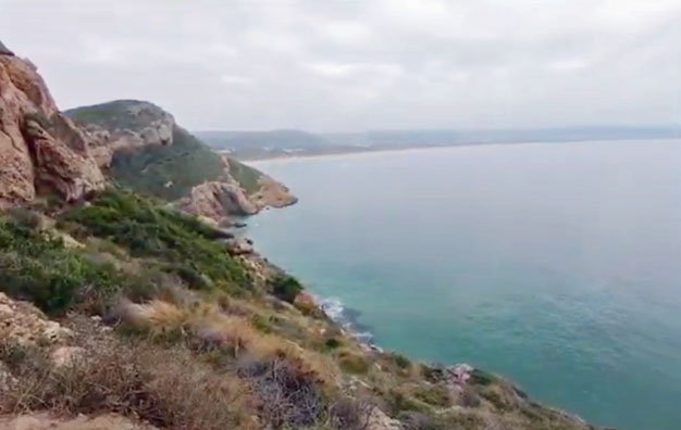 Virtual hike of the First 10 Minutes of the Robberg Trail