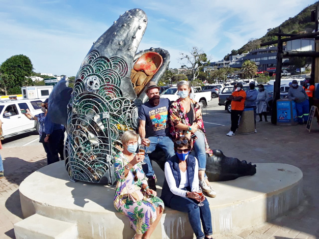 Recycled whale artwork finds a home at Central Beach