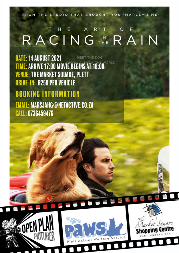 PAWS movie night The Art of Racing in the Rain