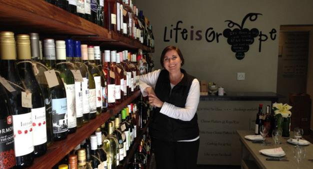 Life is Grape owner Benedetta Schafer in her Walmer shop Picture: Sam Venter