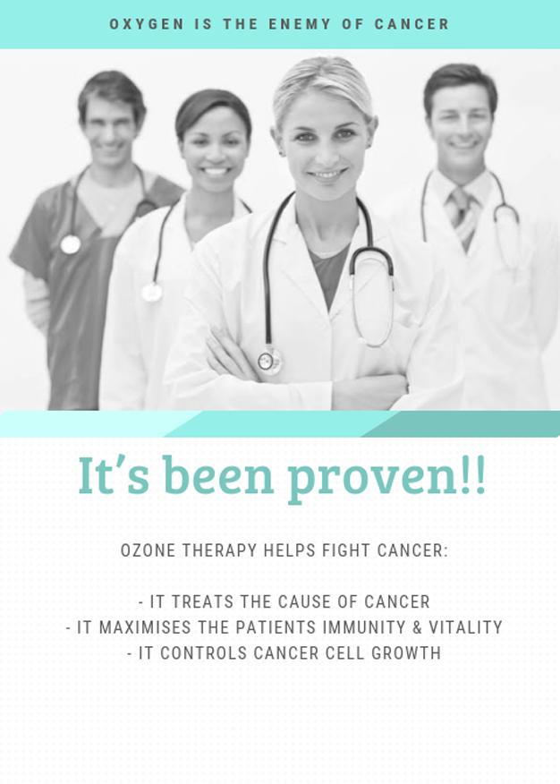 Cancer vs Oxygen - photoshopped