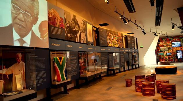 Inside hapo museum at Freedom Park