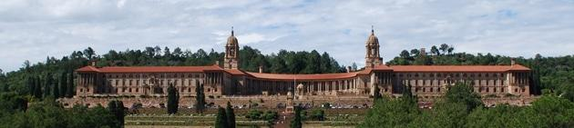 Union Buildings seen from front, situated on Meintjieskop, Pretoria