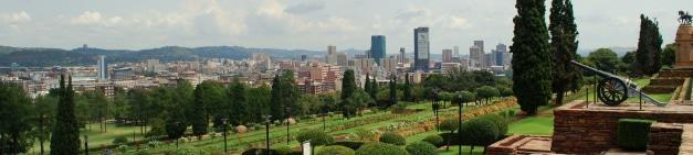 View from Union Buildings with Voortrekker Monument and Skyscrapers