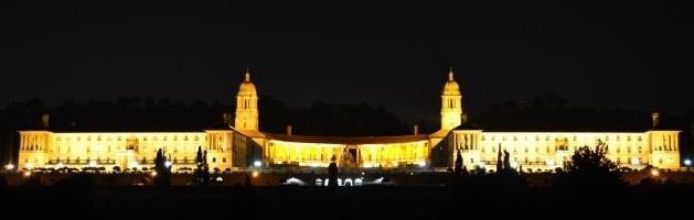 The Union Buildings at night, Arcadia