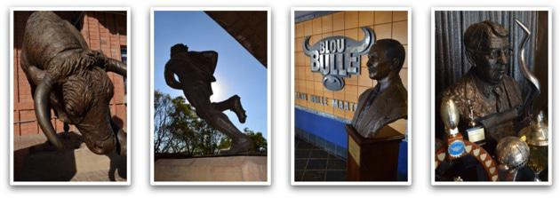Statues in and around Loftus Versfeld Stadium