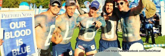 Our blood is blue, fans at Loftus, picture from bulls facebook page