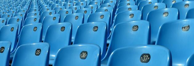 Blue seats of Loftus Versfeld Stadium