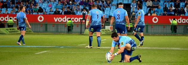Morne Steyn kick in match againts Kings at Loftus Versfeld