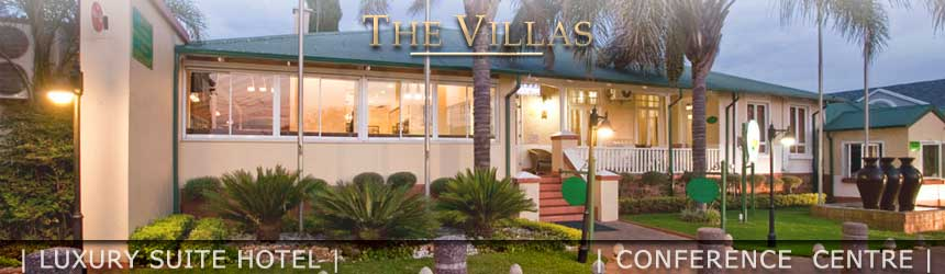 The Villas Luxury Suite Hotel in Arcadia, Pretoria. 90 aesthetically furnished self catering suites and studios