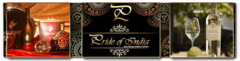 Good food and great wines at The Pride of India Restaurant, Pretoria