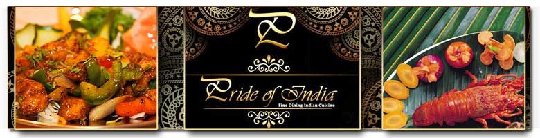 The Pride of India Restaurant. A wonderful way to start your dining experience