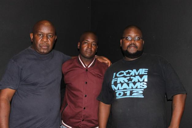 Form the left: Lulu Tsheolo the writer, Pius Moyo the co-writer and Biggy Choeu the stage manager