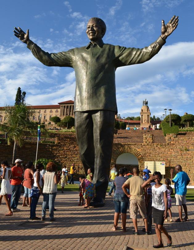 Mandela Statue at the Union Buildings