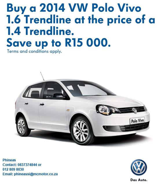 Save up to R15 000 on Polo Vivo