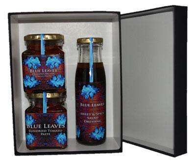 Blue Leaves gift bags and hampers