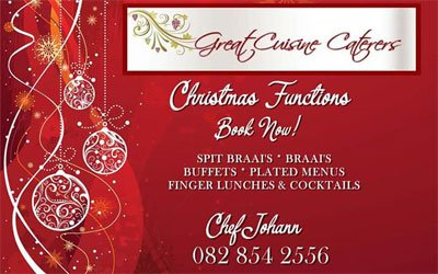 Great Cuisine Caterers Christmas Special