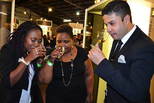 L to R: Amanda, Lerato and Bradley the connoisseur from Brandhouse.