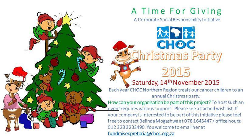 CHOC – Childhood Cancer Foundation SA | Pretoria