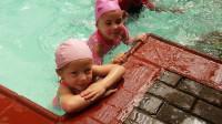 Froggie swimming School girl