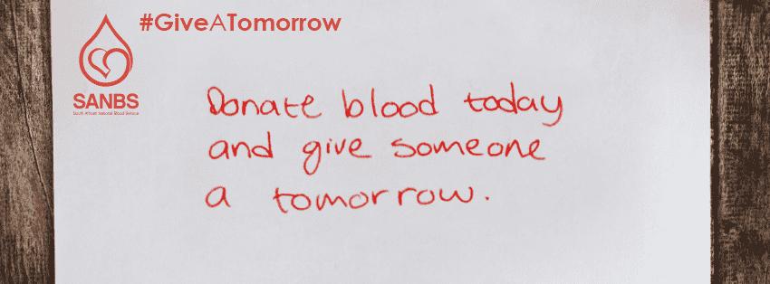 Donate Blood Tomorrow