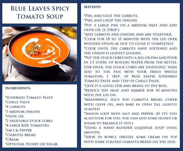 Blue Leaves Spicy Tomato Soup