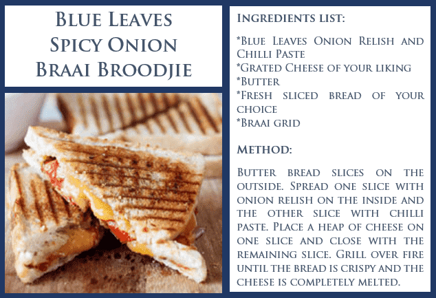 Blue Leaves Spicy Inion Braai Broodjie