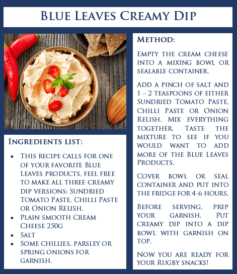 Blue Leaves Creamy Dip Recipe