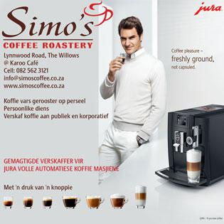 Jura Open Day at Simo's Coffee Roastery, The Willows, Pretoria