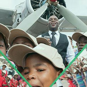Executive Mayor flies high with less privileged children