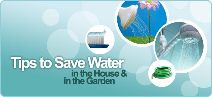 Water saving tips south african news for How to conserve water at home