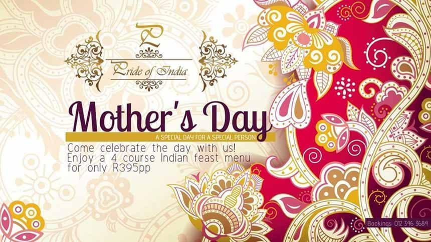 Pride of India Restaurant Mother's Day 2018