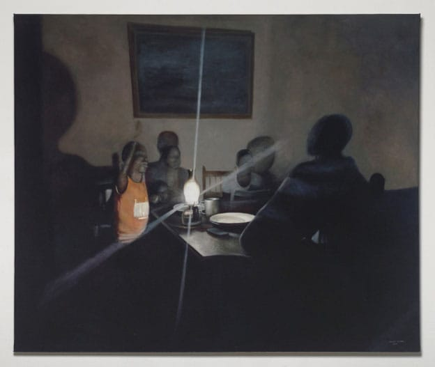 Patrick Rulore - Stage 4 moments - oil on canvas