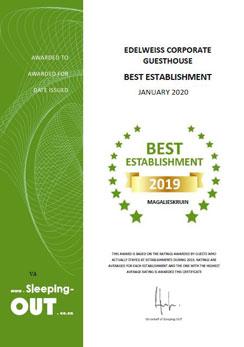 Sleeping-OUT Best Establishment Award