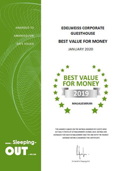 Sleeping-OUT Best Value for Money Award