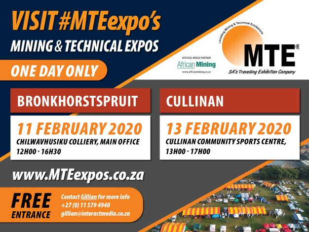 Mining and Technical Expo Bronkhorstspruit and Cullinan