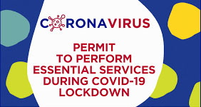 COVID-19 Essential Services Certificate
