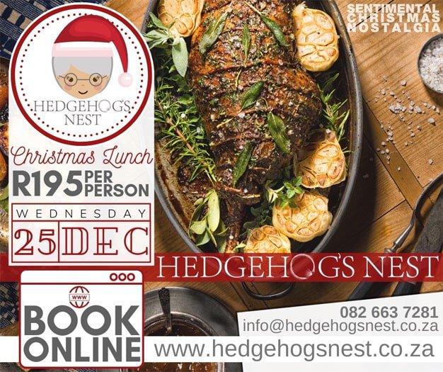 Hedgehog's Nest Christmas Lunch 2019