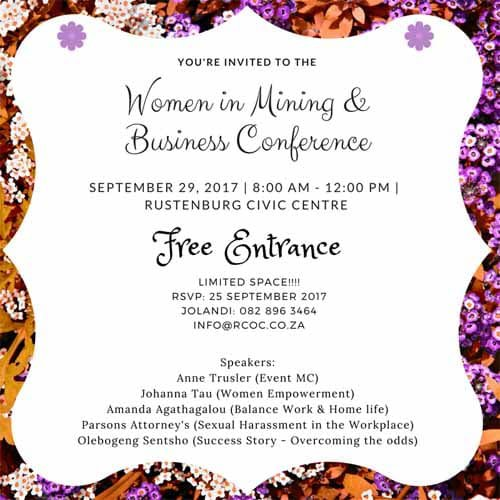 29 September Women in Mining & Business Conference