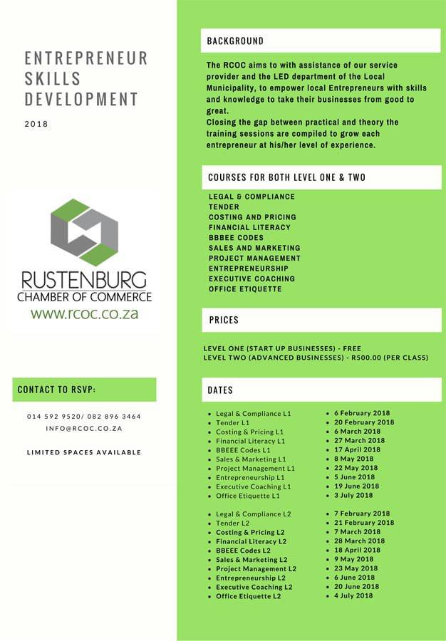 Entrepreneur skills development
