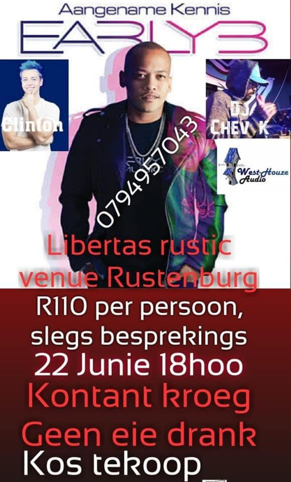 Early B event in Rustenburg