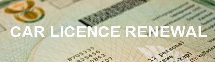 Car licence renewal