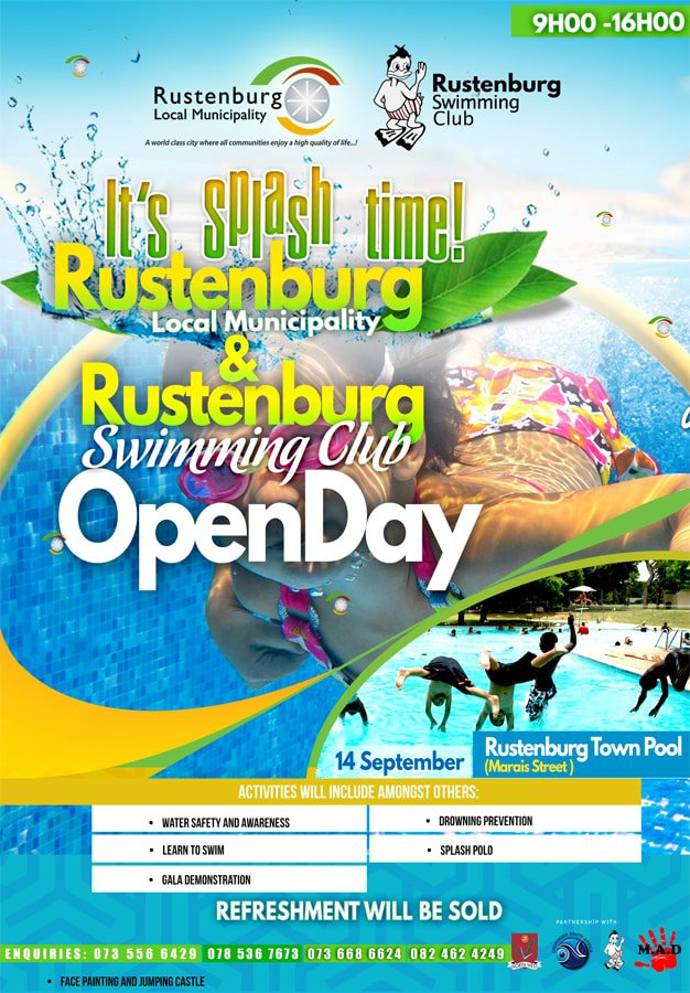 Rustenburg Swimming Club Open Day 2109
